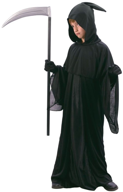 Childs Reaper Midnight Messenger Costume Grim Death Halloween Fancy Dress Outfit